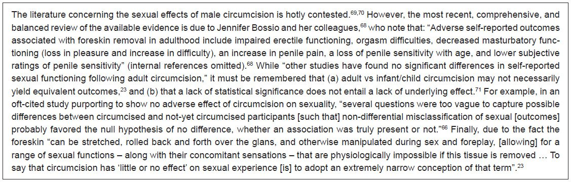 full text female genital mutilation and male circumcision toward  box 1 what are the effects of male circumcision on sexual function satisfaction and sensation